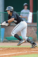 Bristol White Sox catcher Jose Barraza #29 swings at a pitch during a game against the Elizabethton Twins at Joe O'Brien Field on June 25, 2012 in Elizabethton, Tennessee. The Twins defeated the White Sox 9-1. (Tony Farlow/Four Seam Images).