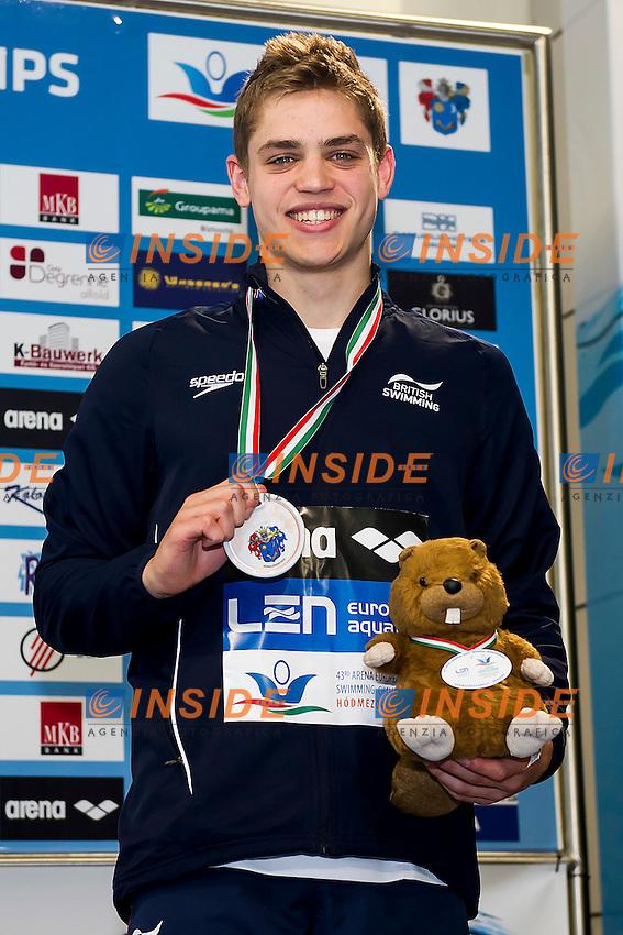 Murphy David GBR<br /> 100 Breaststroke Men Final Bronze Medal<br /> LEN 43rd Arena European Junior Swimming Championships<br /> Hodmezovasarhely, Hungary <br /> Day05 10-07-2016<br /> Photo Andrea Masini/Deepbluemedia/Insidefoto