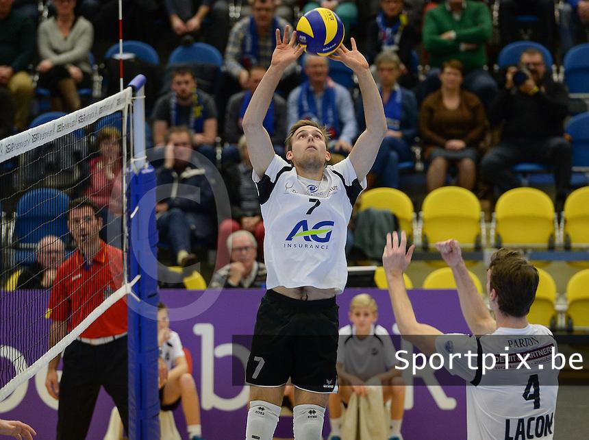Volley Haasrode Leuven : Florian MALISSE<br /> Foto DAVID CATRY | VDB | Bart Vandenbroucke