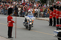 Ottawa (ON) CANADA, July 1st, 2007 -<br /> <br /> The<br /> Prime Minister Harper  motorcade arrive at<br /> Canada day celebration in the national capital.<br /> photo : (c)  Michel Karpoff - Images Distribution