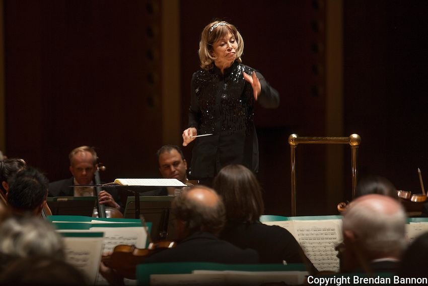Joann Falletta has been Musical Director of The Buffalo Philharmonic Orchestra since 1999. Kleinhans Music Hall, Buffalo, NY.  10/16/16. Photo by Brendan Bannon
