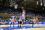 10 February 2017: Duke's Rebecca Greenwell (23) grabs a rebound. The Duke University Blue Devils hosted the Syracuse University Orange at Cameron Indoor Stadium in Durham, North Carolina in a 2016-17 Division I Women's Basketball game. Duke won the game 72-55.