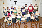 Creative Writing :Under 12 students who participated in a creative writing course at the Seanachi Centre were presented with their certificates in Listowel on Saturday morning last. Front : Ryan Sharpe, Joshua Quilter, Michael Kelly, Samuel Sheehan, Cillian Hussey, Sarah Mahony, Sarah Hayes 7 Gearoid Molyneaux. Back : Lew Cuddigan, Mary O'Connor, Amelia Sheehan, Khristopas Montvydass, Sinead Lynch, Gerard Browne, Orla Joy & Caoimhe Harte.