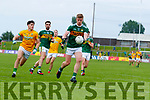 Tommy Walsh, Kerry in action against Séamus Lavin, Meath during the Football All-Ireland Senior Championship Quarter-Final Group 2 Phase 3 match between Kerry and Meath at Páirc Tailteann, Navan on Saturday.