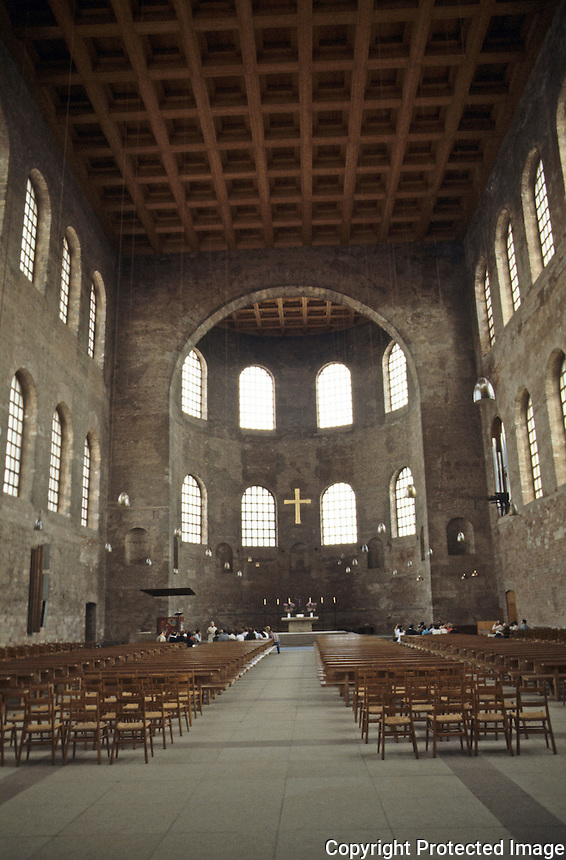Italy: Trier--Roman Basilica, 4th century. Interior.