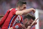Atletico de Madrid's Saul Niguez (d) and Koke Resurrecccion celebrate goal during Champions League 2015/2016 Semi-Finals 1st leg match. April 27,2016. (ALTERPHOTOS/Acero)