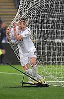 Pictured: Adam King of Swansea City celebrates his goal Monday 15 May 2017<br /> Re: Premier League Cup Final, Swansea City FC U23 v Reading U23 at the Liberty Stadium, Wales, UK