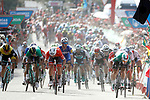 Elia Viviani (ITA) Quick-Step Floors out sprints the pack to win Stage 10 of the La Vuelta 2018, running 177km from Salamanca to Fermoselle. Bermillo de Sayago, Spain. 4th September 2018.<br /> Picture: Unipublic/Photogomezsport | Cyclefile<br /> <br /> <br /> All photos usage must carry mandatory copyright credit (&copy; Cyclefile | Unipublic/Photogomezsport)