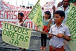 Protesto contra a poluição em Cubatão, São Paulo. 1984. Foto de Juca Martins.
