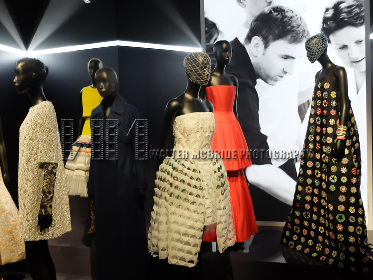 Raf Simons - Dior exhibition celebrating the seventieth anniversary of the Christian Dior fashion house on July 15, 2017 in Paris, France. The exhibition at the Museum of Decorative Arts (Musee des Arts Decoratifs) is a retrospective presenting some 400 dresses, and runs through July 15, 2017 - January 7, 2018.