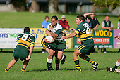 P. Talosaga breaks through Pukekohe tacklers. Counties Manukau Premier Club Rugby, Pukekohe v Manurewa  played at the Colin Lawrie field, on the 17th of April 2006. Manurewa won 20 - 18.