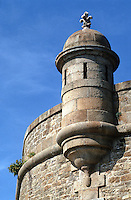 Europe/France/Bretagne/35/Ille-et-Vilaine/Saint-Malo: Détail des Remparts - Bastion St Philippe
