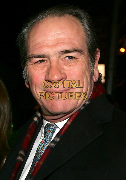 "TOMMY LEE JONES .Premiere of ""The Three Burials of Melquiades Estrada"" at the Paris Theatre, New York, NY.  .December 12th, 2005.Photo: Jackson Lee/Admedia/Capital Pictures.Ref: JL/ADM.headshot portrait.www.capitalpictures.com.sales@capitalpictures.com.© Capital Pictures."