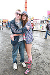 Gary Mills and Michelle Moriorty on Day 1 of the Oxegen Festival, Punchestown, Co.Kildare...(Photo credit should read Jenny Matthews www.newsfile.ie)....This Picture has been sent you under the conditions enclosed by:.Newsfile Ltd..The Studio,.Millmount Abbey,.Drogheda,.Co Meath..Ireland..Tel: +353(0)41-9871240.Fax: +353(0)41-9871260.GSM: +353(0)86-2500958.email: pictures@newsfile.ie.www.newsfile.ie.