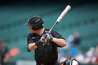 JJ Bleday (51) of the Vanderbilt Commodores at bat against the Sam Houston State Bearkats in game one of the 2018 Shriners Hospitals for Children College Classic at Minute Maid Park on March 2, 2018 in Houston, Texas. The Bearkats walked-off the Commodores 7-6 in 10 innings.   (Brian Westerholt/Four Seam Images)