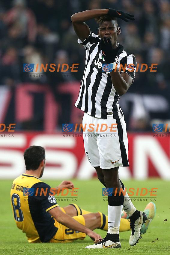 Paul Pogba Juventus, <br /> Torino 09-12-2014, Juventus Stadium, Football Calcio 2014/2015 Champions League, Juventus - Atletico Madrid, foto Marco Bertorello/Insidefoto