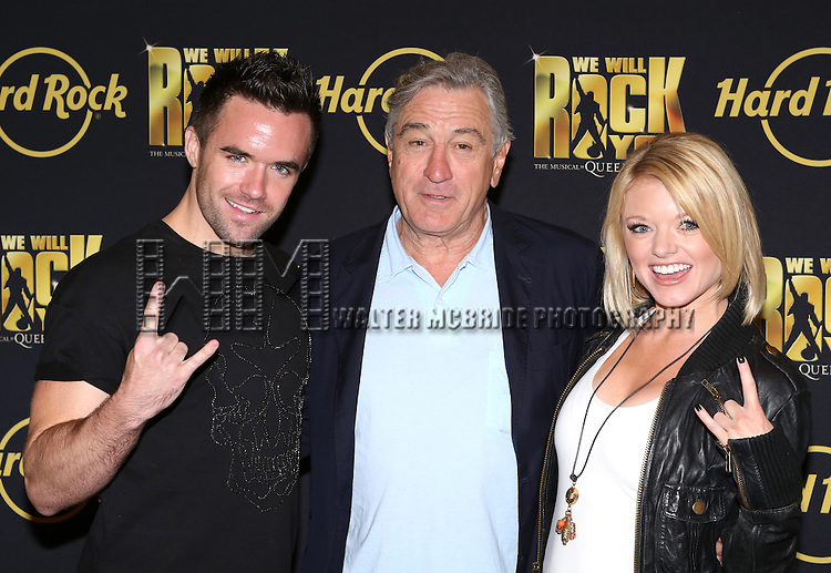 Brian Justin Crum, Robert De Niro and Ruby Lewis attend the 'We Will Rock You' North America Tour Rehearsals at The New 42nd Street Studios on September 23, 2013 in New York City.