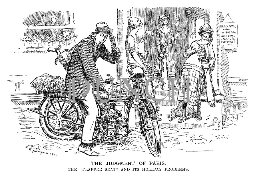 """The Judgment of Paris. The """"flapper seat"""" and its holiday problems."""