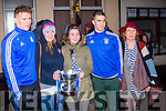 The Daly family at the homecoming in Cahersiveen on Sunday night Denis, Aoife, Meabh, Daniel & Margaret Daly.