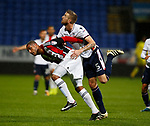 Leon Clarke of Sheffield Utd tussles with Mark Beevers of Bolton Wanderers during the Championship match at the Macron Stadium, Bolton. Picture date 12th September 2017. Picture credit should read: Simon Bellis/Sportimage