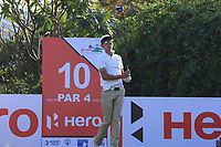 Micah Shin (KOR) on the 10th tee during the Preview of the Hero Indian Open at the DLF Golf and Country Club on Monday 5th March 2018.<br /> Picture:  Thos Caffrey / www.golffile.ie<br /> <br /> All photo usage must carry mandatory copyright credit (&copy; Golffile | Thos Caffrey)