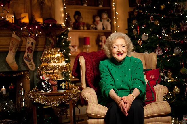 "December  20, 2011 - Los Angeles, CA - : Monday Night Football open with Betty White..""A White Christmas""..Credit: Kohjiro Kinno/ESPN"