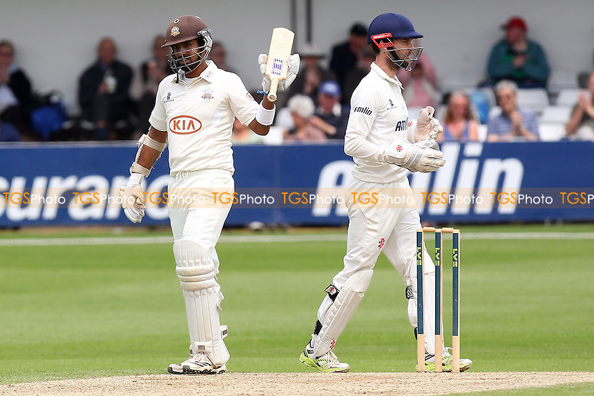Arun Harinath (L) of Surrey acknowledges his half-century - Essex CCC vs Surrey CCC - LV County Championship Division Two Cricket at the Essex County Ground, Chelmsford, Essex - 26/05/14 - MANDATORY CREDIT: Gavin Ellis/TGSPHOTO - Self billing applies where appropriate - 0845 094 6026 - contact@tgsphoto.co.uk - NO UNPAID USE