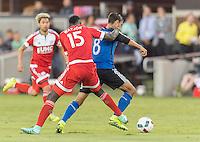 San Jose, Ca - August 24, 2016: The San Jose Earthquakes vs the New England Revolution at Avaya Stadium. Final score: San Jose 0, New England 0.