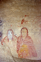 Anasazi paintings on a boulder, Ute Mountain Tribal Park, Colorado, U.S.A.