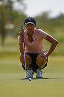 Gabby Lemieux (USA) lines up her putt on 1 during the round 2 of the Volunteers of America Texas Classic, the Old American Golf Club, The Colony, Texas, USA. 10/4/2019.<br /> Picture: Golffile | Ken Murray<br /> <br /> <br /> All photo usage must carry mandatory copyright credit (© Golffile | Ken Murray)