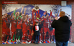Fan takes a photo opportunity before the UEFA Champions League match at Anfield, Liverpool. Picture date: 11th March 2020. Picture credit should read: Darren Staples/Sportimage