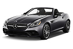 2017 Mercedes Benz SLC SLC300 2 Door Convertible angular front stock photos of front three quarter view