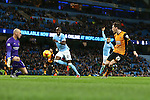 Hull's Andrew Robertson scores a consolation goal - Manchester City vs Hull City - Capital One Cup - Etihad Stadium - Manchester - 01/12/2015 Pic Philip Oldham/SportImage