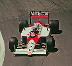 Alain Prost in the McLaren MP4-4 , Detroit 1988