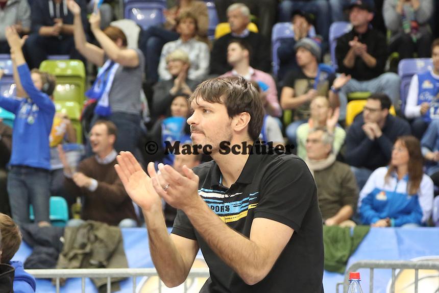 Der verletzte Skyliners Kapitän Marius Nolte - Fraport Skyliners vs. Artland Dragons Quakenbrueck, Fraport Arena Frankfurt