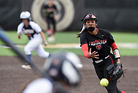 NWA Democrat-Gazette/CHARLIE KAIJO Northside High School Cailin Massey (3) throws a pitch during the 6A State Softball Tournament, Thursday, May 9, 2019 at Tiger Athletic Complex at Bentonville High School in Bentonville. Rogers Heritage High School lost to Northside High School 8-6