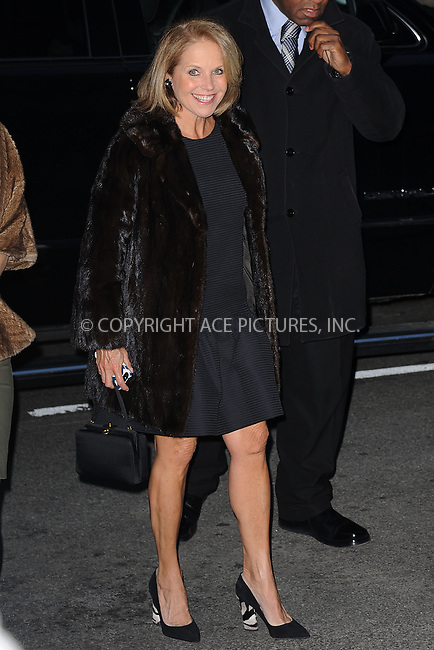 WWW.ACEPIXS.COM<br /> March 22, 2015 New York City<br /> <br /> Katie Couric attending the 'Mad Men' New York Special Screening at The Museum of Modern Art on March 22, 2015 in New York City.<br /> <br /> Please byline: Kristin Callahan/AcePictures<br /> <br /> ACEPIXS.COM<br /> <br /> Tel: (646) 769 0430<br /> e-mail: info@acepixs.com<br /> web: http://www.acepixs.com