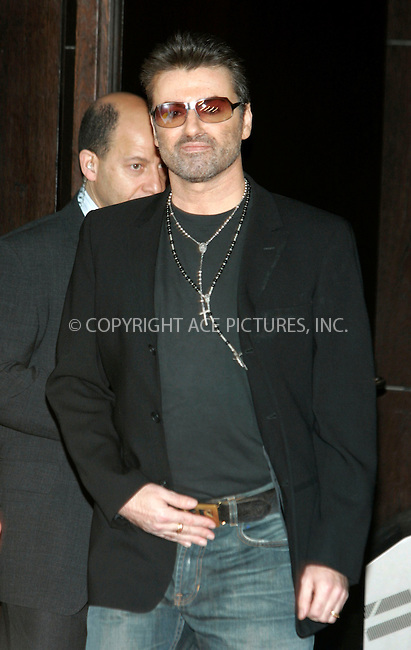 WWW.ACEPIXS.COM . . . . .  ... . . . . US SALES ONLY . . . . .....BERLIN, FEBRUARY 17, 2005....George Michael at a photocall for George Michael - A Different Story at the Berlin Film Festival.....Please byline: FAMOUS-ACE PICTURES-H. BOESL... . . . .  ....Ace Pictures, Inc:  ..Philip Vaughan (646) 769-0430..e-mail: info@acepixs.com..web: http://www.acepixs.com