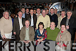 Gene Moriarty Killarney seated third from left celebrates his retirement from St Finian's hospital, Killarney with his family and friends in Squires bar, Killarney on Friday night
