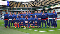 The French team pose for a team photo before the QBE international between England and France - 15/08/2015 - Twickenham Stadium - London <br /> Mandatory Credit: Rob Munro/Stewart Communications