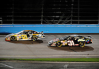 Apr 16, 2009; Avondale, AZ, USA; NASCAR Camping World Series West driver Blake Koch (21) leads teammate Austin Dillon (31) during the Jimmie Johnson Foundation 150 at Phoenix International Raceway. Mandatory Credit: Mark J. Rebilas-