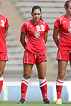 01 September 2013: New Mexico's Ashley Espinoza. The Duke University Blue Devils played the University of New Mexico Lobos at Fetzer Field in Chapel Hill, NC in a 2013 NCAA Division I Women's Soccer match. Duke won the game 1-0.