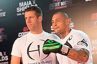 BARUERI, SP, 07.10.2013 - TREINO UFC/BARUERI - lutador Thiago Silva durante treino no UFC Fight no combate 29 na tarde desta segunda-feira, 07 no ginasio Jose Correa em Barueri. (Foto: Adriana Spaca / Brazil Photo Press).