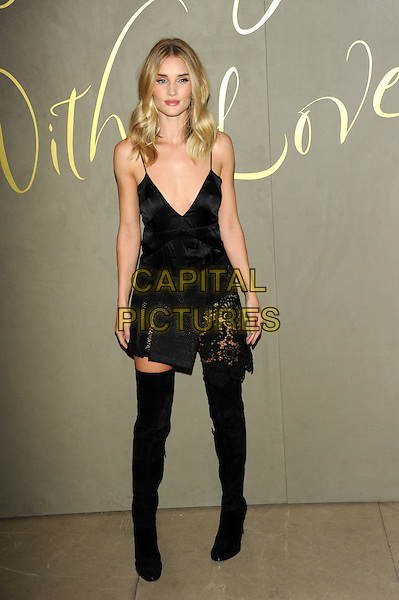 LONDON, ENGLAND - NOVEMBER 3: Rosie Huntington-Whiteley attends the Burberry Festive Film Premiere at Burberry Regent Street on November 3, 2015 in London, England.<br /> CAP/CJ<br /> &copy;CJ/Capital Pictures