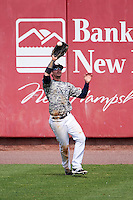 New Hampshire Fisher Cats right fielder Ian Parmley (7) during a game against the Reading Fightin Phils on May 30, 2016 at Northeast Delta Dental Stadium in Manchester, New Hampshire.  New Hampshire defeated Reading 9-1.  (Mike Janes/Four Seam Images)