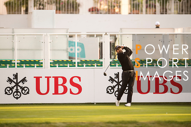 Shiv Kapur of India tees off the first hole during the 58th UBS Hong Kong Open as part of the European Tour on 08 December 2016, at the Hong Kong Golf Club, Fanling, Hong Kong, China. Photo by Marcio Rodrigo Machado / Power Sport Images