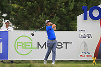 Steve Webster (ENG) on the 10th tee during Round 1 of the D+D Real Czech Masters at the Albatross Golf Resort, Prague, Czech Rep. 31/08/2017<br /> Picture: Golffile | Thos Caffrey<br /> <br /> <br /> All photo usage must carry mandatory copyright credit     (&copy; Golffile | Thos Caffrey)