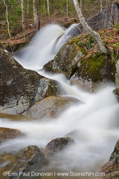 Cascade on Clough Mine Brook, a tributary of Lost River, in Kinsman Notch in North Woodstock, New Hampshire USA during the spring months.
