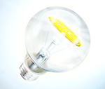 Illustrative image of light bulb with corn cob representing bio energy