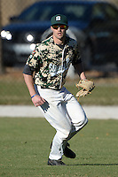 Slippery Rock outfielder Graeme Zaparzynski (16) during warmups before a game against Upper Iowa University at Frank Tack Field on March 14, 2014 in Clearwater, Florida.  Slippery Rock defeated Upper Iowa 14-9.  (Mike Janes/Four Seam Images)